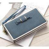 WLT-047 Baelberry N1228 Women Lady Clutches Bow Purse(BLUE)