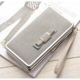 WLT-047 Baelberry N1228 Women Lady Clutches Bow Purse(GRAY)