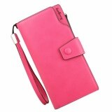WLT-082 Baelberry ZX-13848-3 Brand Woman Lady Women Long Luxury Purse Wallet Clutches Bag [ROSE]
