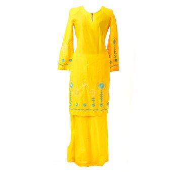Baju Kurung Moden - Cotton Embroidery - 1186 - F3 (Sunlight)