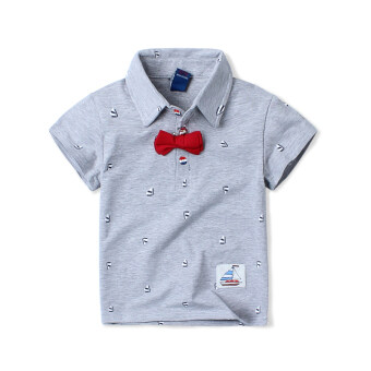 Sell baobao summer boy 39 s short sleeved t shirt gray in for Where can i sell my shirts online