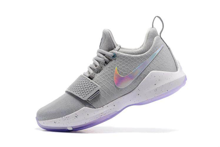 23c46bc6c5ad Basketball Shoes Zoom PG 1 Relaxed Fit Low Top Grey Paul George Men s NBA  Sneaker -