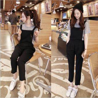 Beauty Fashion Stylish Lady Women Sleevelese Casual Elastic Waist Trouser Loose Jumpsuit Overalls
