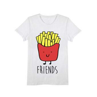 Best friends hot tide GUI honey dress T-shirt Hamburg (French fries) (French fries)