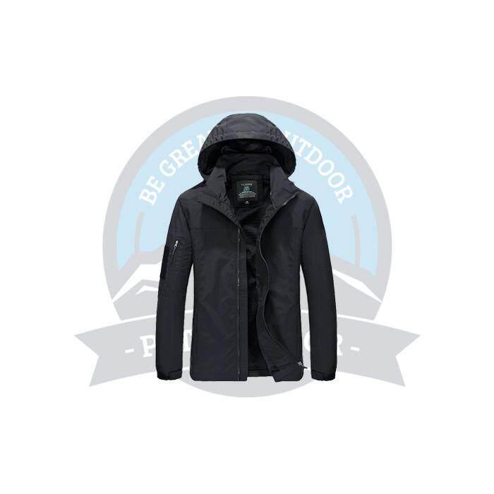 [ BEST SELLER ] JEEP Thermal Windbreaker Winter Thermal Outdoor Hiking Down Jackets and Coats Windbreaker Waterproof Snowsuit With Hoodies - Black
