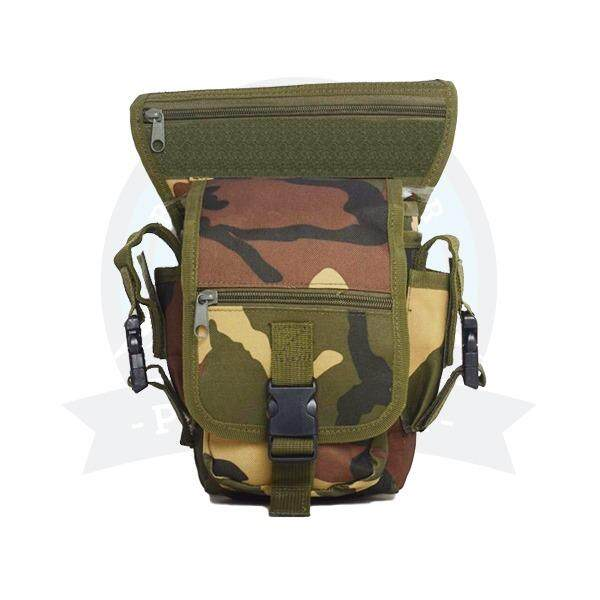 [ LOCAL DELIVERY ] Multifunction Men Tactical Military Outdoor Pouch Sport Leg Thigh Bag Canvas Fanny Pack Purse for Travel Hiking Riding (Camouflage)