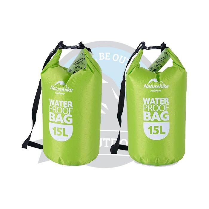 [ FREE DELIVERY ] Naturehike Multifunctional 15L Dry Bag Camping Hiking Waterproof Bag Sports Outdoor Dry Bag -Green