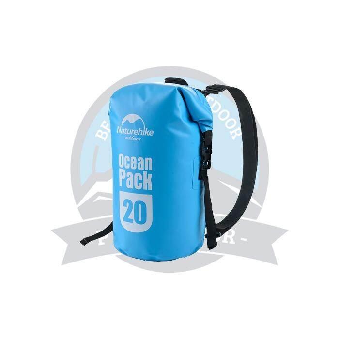 [ BEST SELLER ] Naturehike Multifunctional 20L Dry Bag Camping Hiking Waterproof Bag Sports Outdoor Dry Bag -Blue