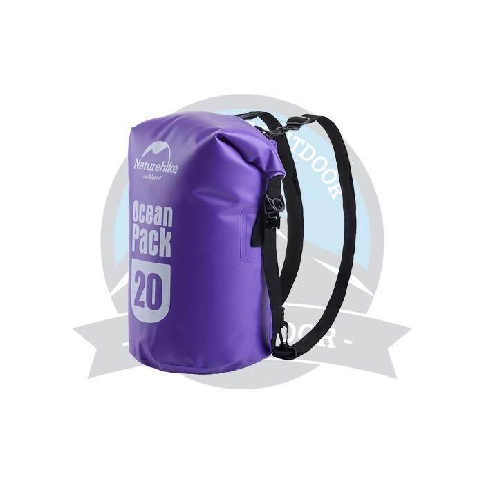 [ BEST SELLER ] Naturehike Multifunctional 20L Dry Bag Camping Hiking Waterproof Bag Sports Outdoor Dry Bag -Purple