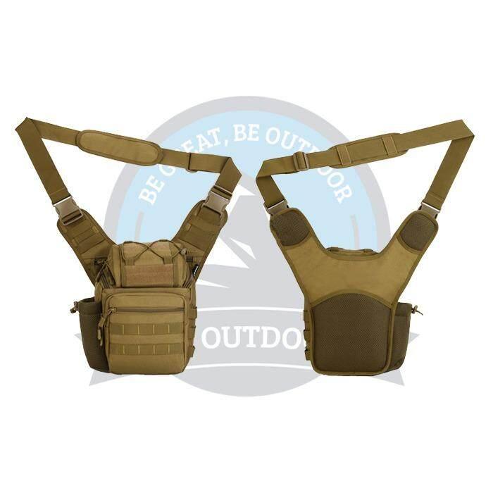 [ BEST SELLER ] Protector Plus Sling Crossbody Mens Sling Bag Premium Casual Multifunctional Men Sling Bag -Brown