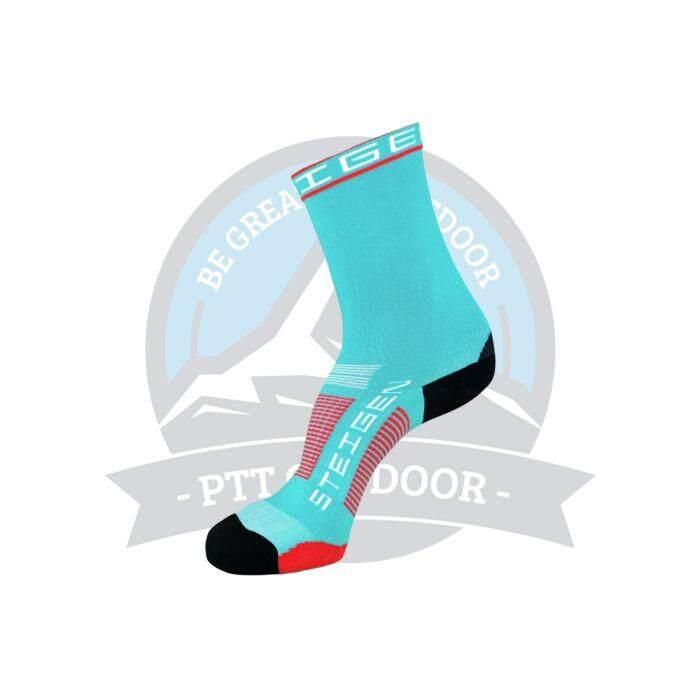 [ BEST SELLER ] Steigen 3 Quarter Length Anti Blister Socks Outdoor Sports Athletic Socks - Aqua