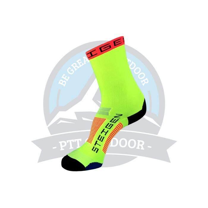 [ BEST SELLER ] Steigen 3 Quarter Length Anti Blister Socks Outdoor Sports Athletic Socks - Light Yellow