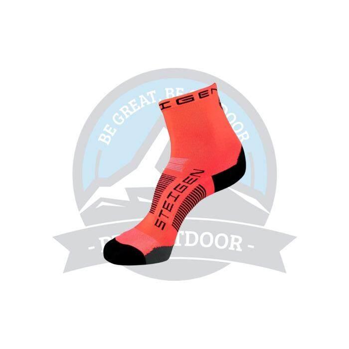 [ BEST SELLER ] Steigen Half Length Anti Blister Socks Outdoor Sports Athletic Socks - Red