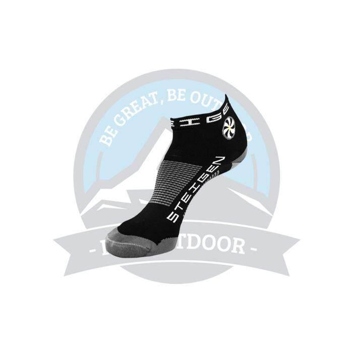 [ BEST SELLER ] Steigen Quarter Length Anti Blister Socks Outdoor Sports Athletic Socks - Black