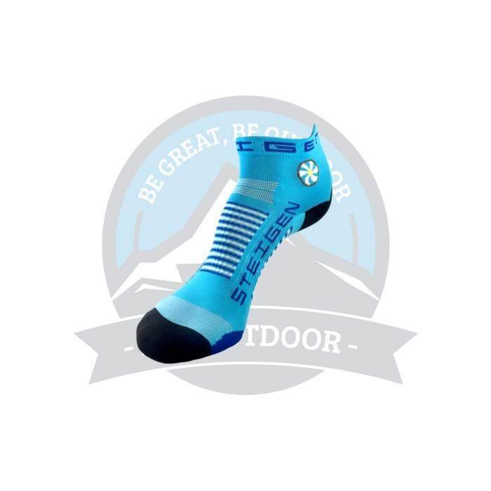 [ BEST SELLER ] Steigen Quarter Length Anti Blister Socks Outdoor Sports Athletic Socks - Blue