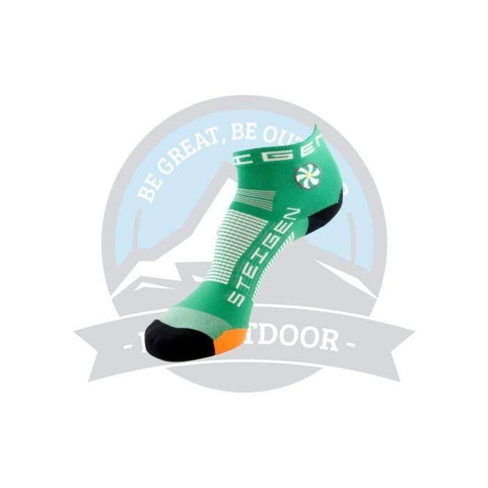 [ BEST SELLER ] Steigen Quarter Length Anti Blister Socks Outdoor Sports Athletic Socks - Green