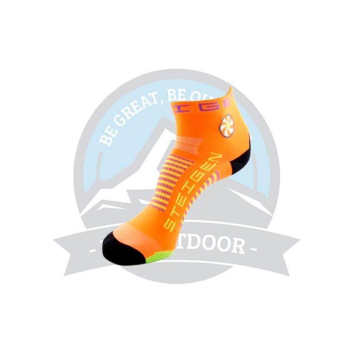 [ BEST SELLER ] Steigen Quarter Length Anti Blister Socks Outdoor Sports Athletic Socks - Orange