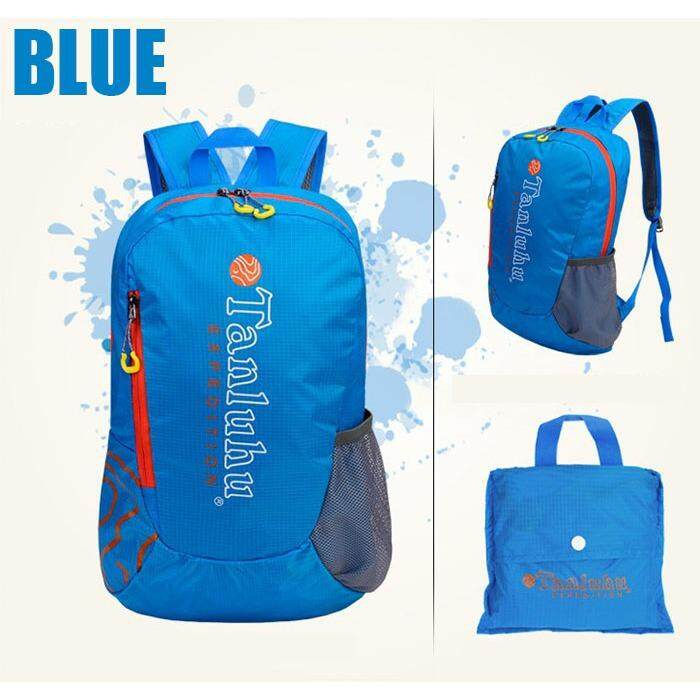 [ CLEARANCE SALE ] (FREE DELIVERY) Tanluhu 20L Travel Backpack Travel Bag Water Resistant Foldable Outdoor Bagpack -Blue