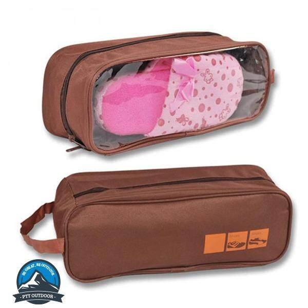 [ BEST SELLER ] Waterproof Shoe Bag Travel Sports Gym Carry Storage Case - BROWN