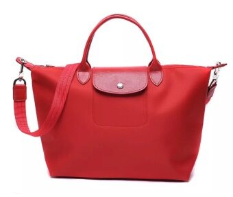 (Big Size) Paris Longchmp Le Pliage Neo Nylon Tote/Sling Handbag(Red)