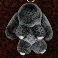 ราคา Big Size Rex Rabbit Real Genuine Furs Charm Cute Pompon Play Dead Rabbit Toy Doll Monster For Keychain Car Bag Charms Color Black Slim Diary เป็นต้นฉบับ