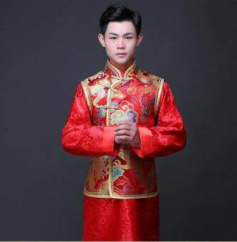 BIGCAT men Wedding dress Chinese traditional style dress Tang suit