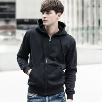 Black color pocket Top hoodie (New style black) (New style black)