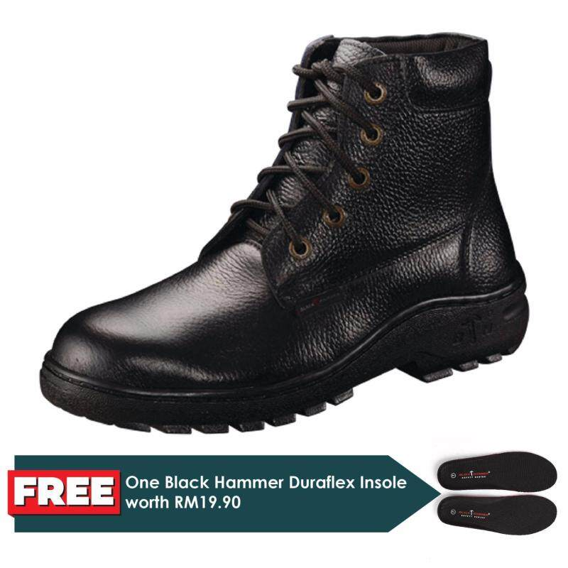 Buy Black Hammer 2000 Series Mid cut Lace up Safety Shoes Malaysia