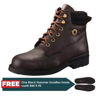 Harga Black Hammer 4000 Series Mid cut Lace up Safety Shoes
