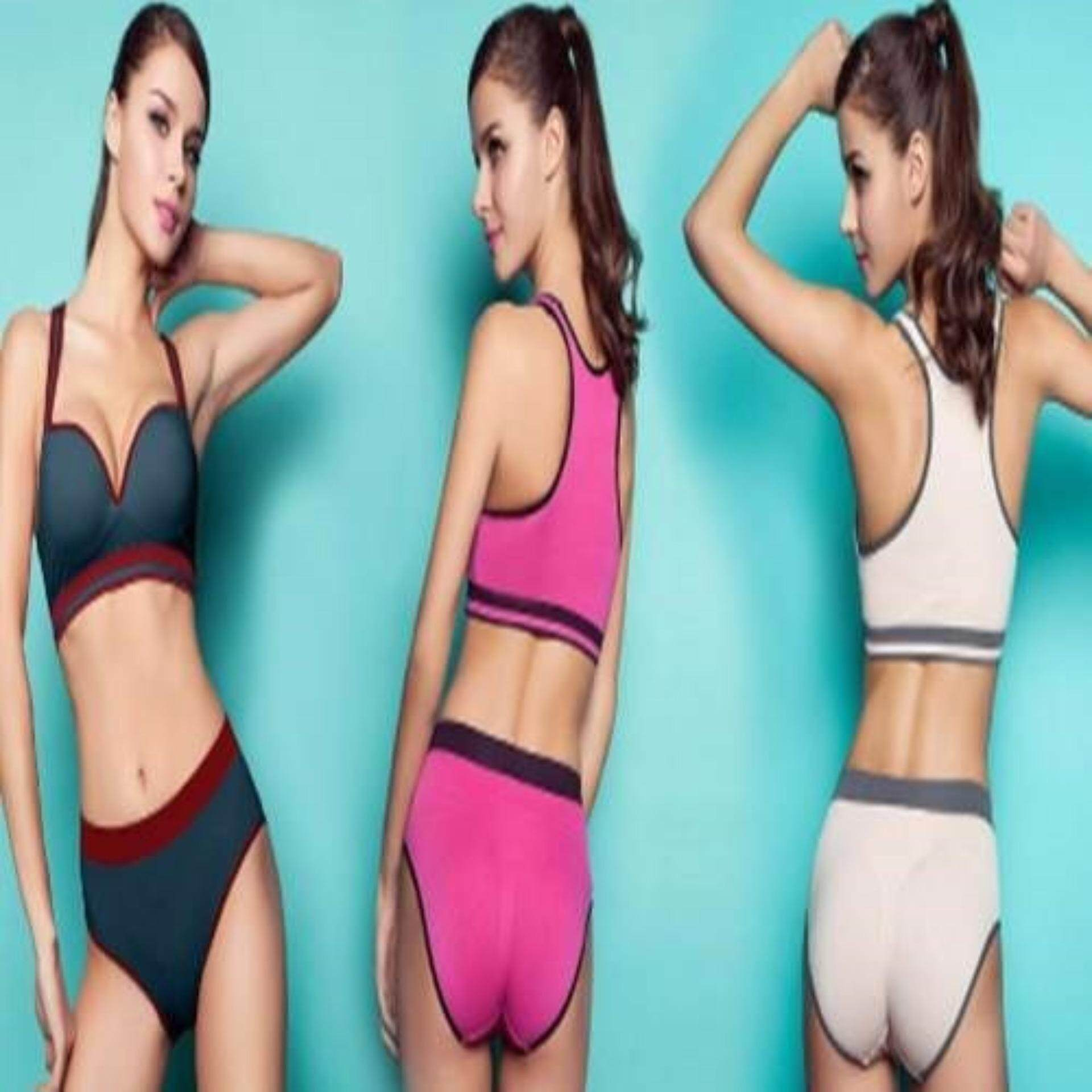 Womens Sexy Sports Bra Sets Panties Shorts Yoga Bra Boxers Panty Suits