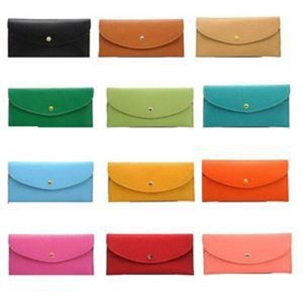 BLUE Clutch Leather Long Wallet- Clearance Sale Below Cost (Was RM69)