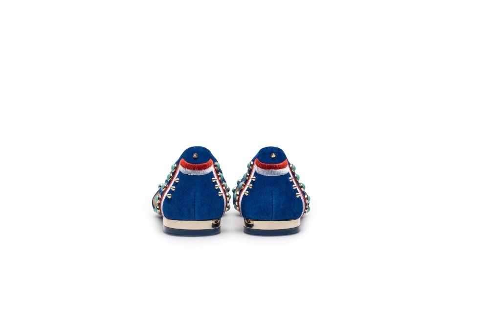 Blue Flat-Heel Jacobs Rivet