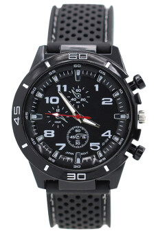 Harga Bluelans(R) Rubber Strap Watch (Black)