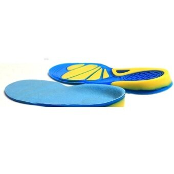 BolehDeals Unisex Silicone Gel Arch Support Sports Insoles ShockAbsorption Shoe Pads M - 4