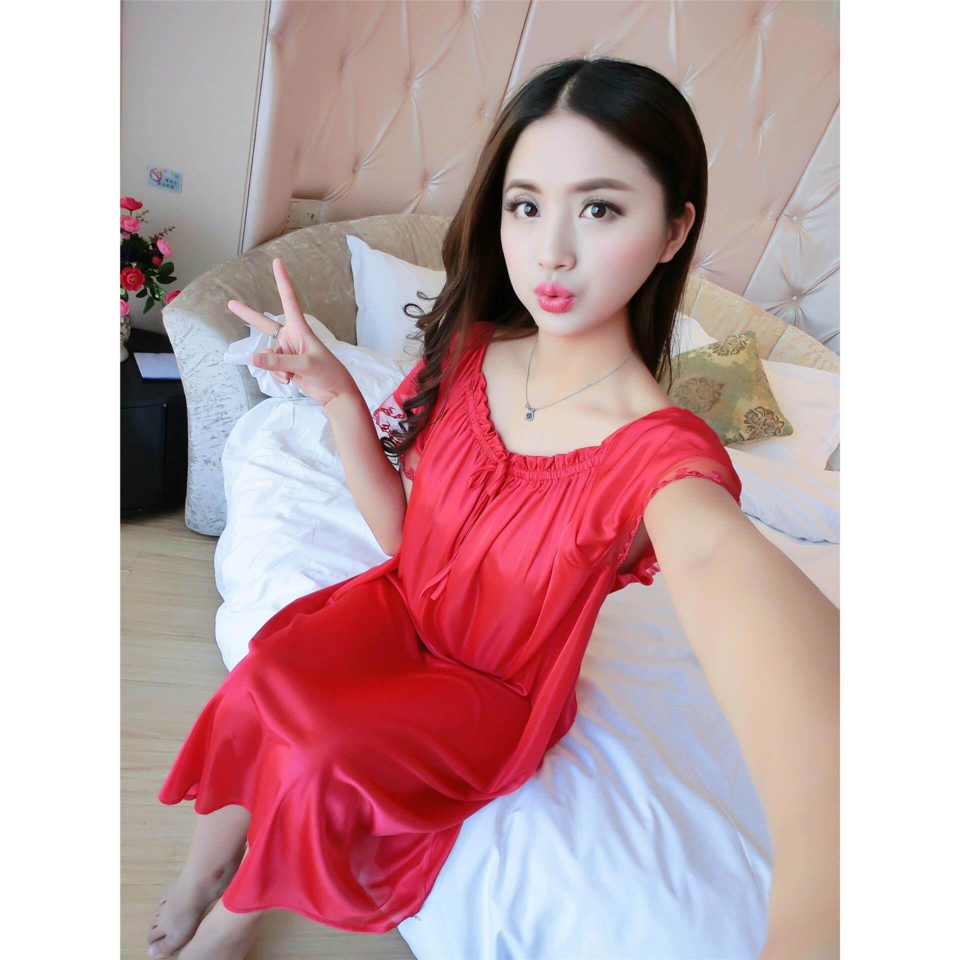 66f73e4b2 Bolster Store Ladies Women Sleepwear Sexy Lingerie Pajamas Long ...