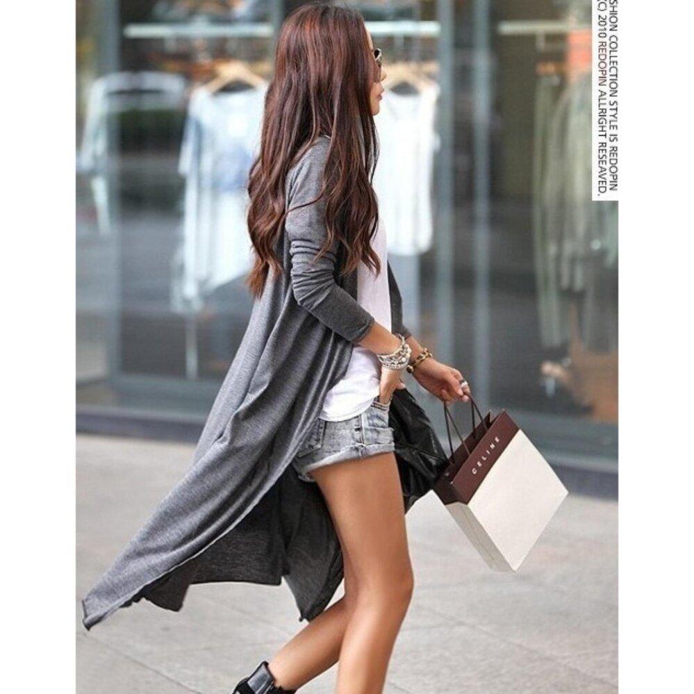 Bolster Store Women Ladies Long 110cm Korean Stylish Long Sleeve UV Cardigan (Dark Grey)