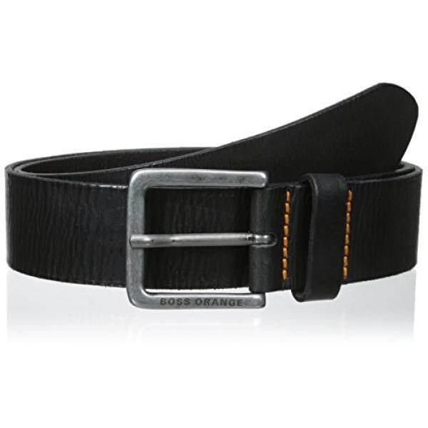 Boss Orange Mens Jeek Leather Belt, black, 40 - intl