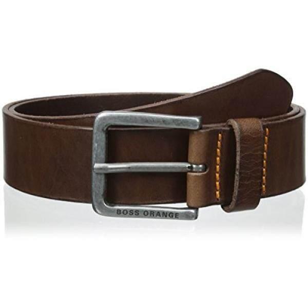 Boss Orange Mens Jeek Leather Belt, dark brown, 42 - intl