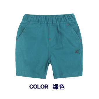 Harga Boys children's summer waist cotton pants shorts (Green) (Green)
