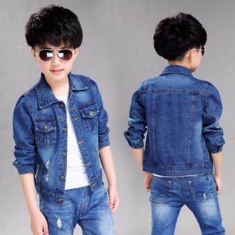 Harga Boys Denim Jacket Blue 003