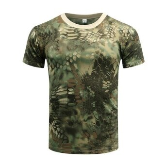 Brand New Summer Military Camouflage Men T-shirt Casual TacticalArmy Combat O Neck T Shirt Men Quick Dry Short Sleeve Camo Clothing - 5
