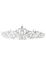 Toko Bridal Pernikahan Tiara Mahkota Putri Kristal Austria Rambut Kekuatan Tinggi Hot Perak Di Tiongkok