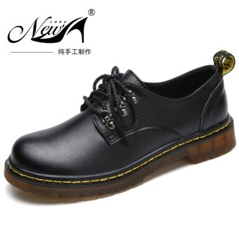 Harga British female round Martin shoes Dr. Martens