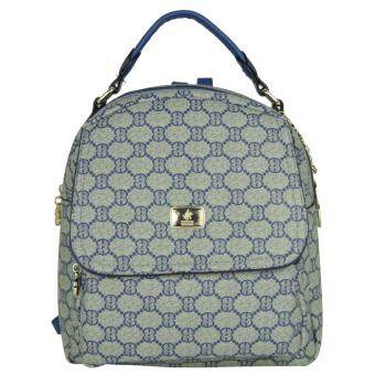 Harga British Polo Women Pattern Backpack (Blue)