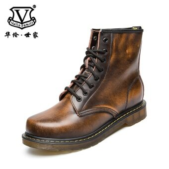 Harga British style leather autumn New style men's boots Dr. Martens (Brown C8301169W)