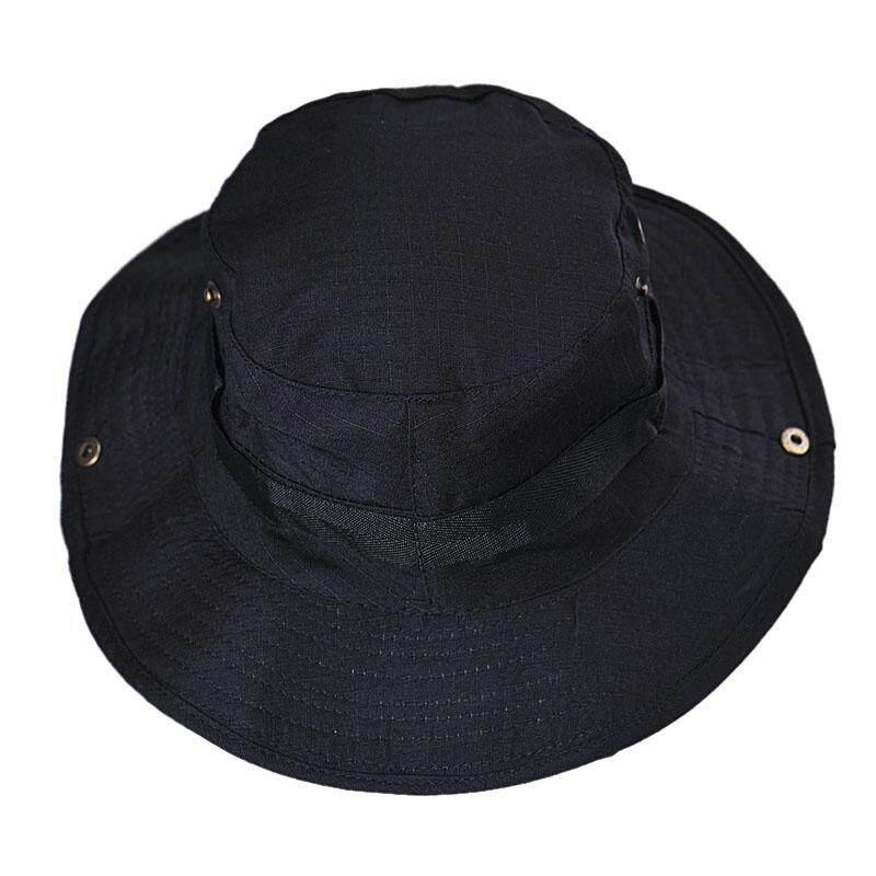 Bucket Hat Boonie Hunting Fishing Outdoor Wide Cap Brim Military BK - intl 8e9496a6a4e0