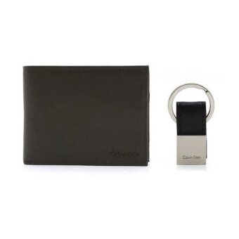 Harga Calvin Klein Wallet with Leather Key Chain for Men - Black