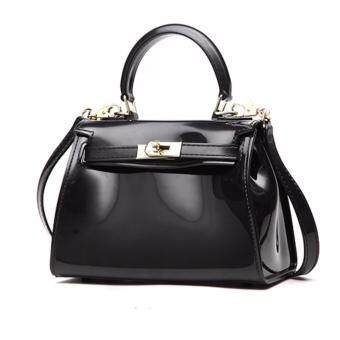 Candy Jelly Kelly Top Handle Bag Black