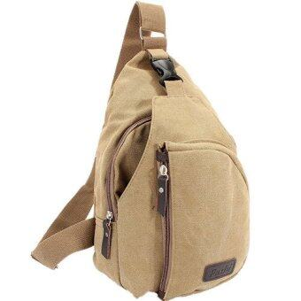 Canvas Shoulder Pouch Crossbody Hiking Travel Shoulder Bag KHAKI ...
