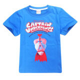 ซื้อ Captain Boys 3 15 Yrs 100 155Cm Body Height Cotton T Shirts Color Blue จีน